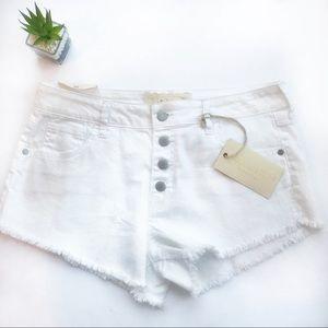 altar'd state | white denim shorts frayed hem 29 9